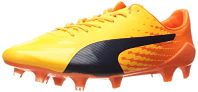 half off c600e 67215 PUMA Men s Evospeed 17 SL S FG Soccer Shoe, Ultra Yellow-Peacoat-Orange