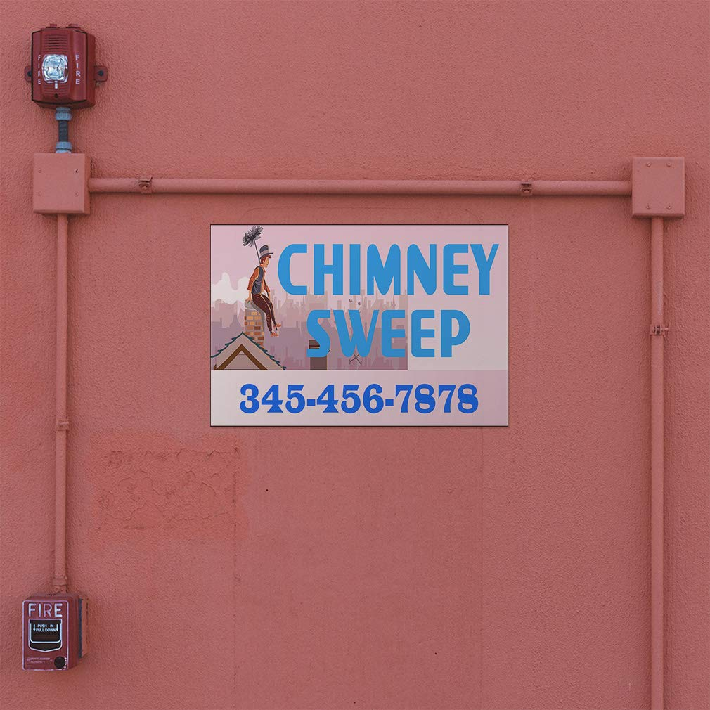 Custom Door Decals Vinyl Stickers Multiple Sizes Chimney Sweep Phone Number A Business Chimney Cleaning Outdoor Luggage /& Bumper Stickers for Cars White 52X34Inches Set of 5