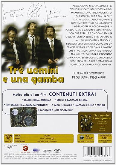 Amazon Com Tre Uomini E Una Gamba Aldo Giovanni Giacomo Marina Massironi Massimo Venier Movies Tv