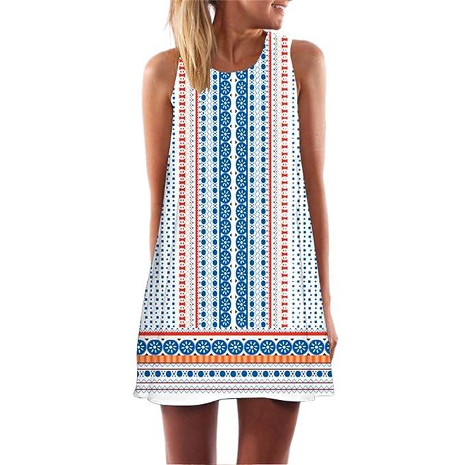 BCVHGD 2018 Summer Short Dress Print Boho Beach Women Club Party Sundress Vestidos Robe Femme S