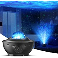 Star Projector with Bluetooth Speaker Remote Control Night Light with Moving Ocean Wave for Holiday Decor Mood Ambiance…