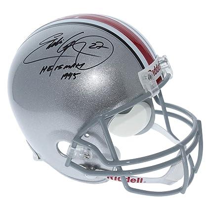 Eddie George Autographed Signed Ohio State Buckeyes Black Speed Mini Helmet Certified Authentic
