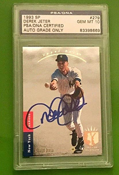 Derek Jeter Signed 1993 Ud Sp 279 Foil Rookie Card 10 Mint