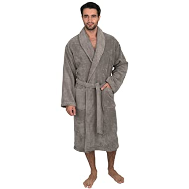 TowelSelections Men's Robe, Organic Cotton Terry Shawl Bathrobe Made in Turkey