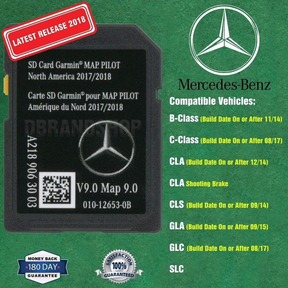 New SD Card Garmin Map Pilot 2018 2019 Mercedes-Benz Navigation Part A2189063003