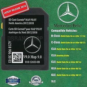 New SD Card Garmin Map Pilot 2018 2019 Mercedes-Benz Navigation Part A2189063003
