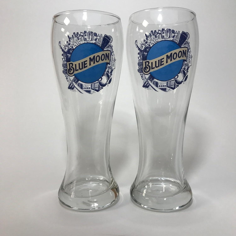 Blue Moon 16oz Pilsner Glass Set of 4