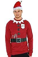 Mens Christmas Rudolf Reindeer Xmas Hoodie Jumper