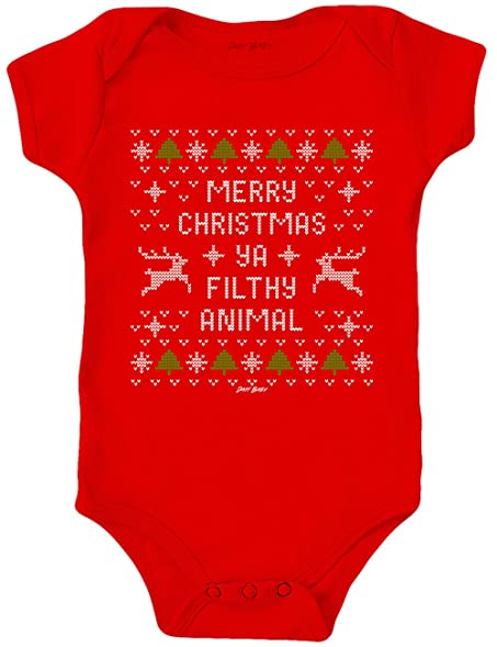 daft baby ugly christmas sweater onesie bodysuit baby on board sticker red 3