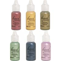 Ranger - Liquid Pearls Pearlescent Paint 2018 Bundle of 6 Colors - Bronze, Marigold, Merlot, Sage, Slate and Taffy