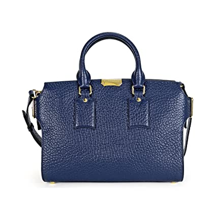 5db086352bbc Buy Burberry Women s Leather Tote Bag (Blue