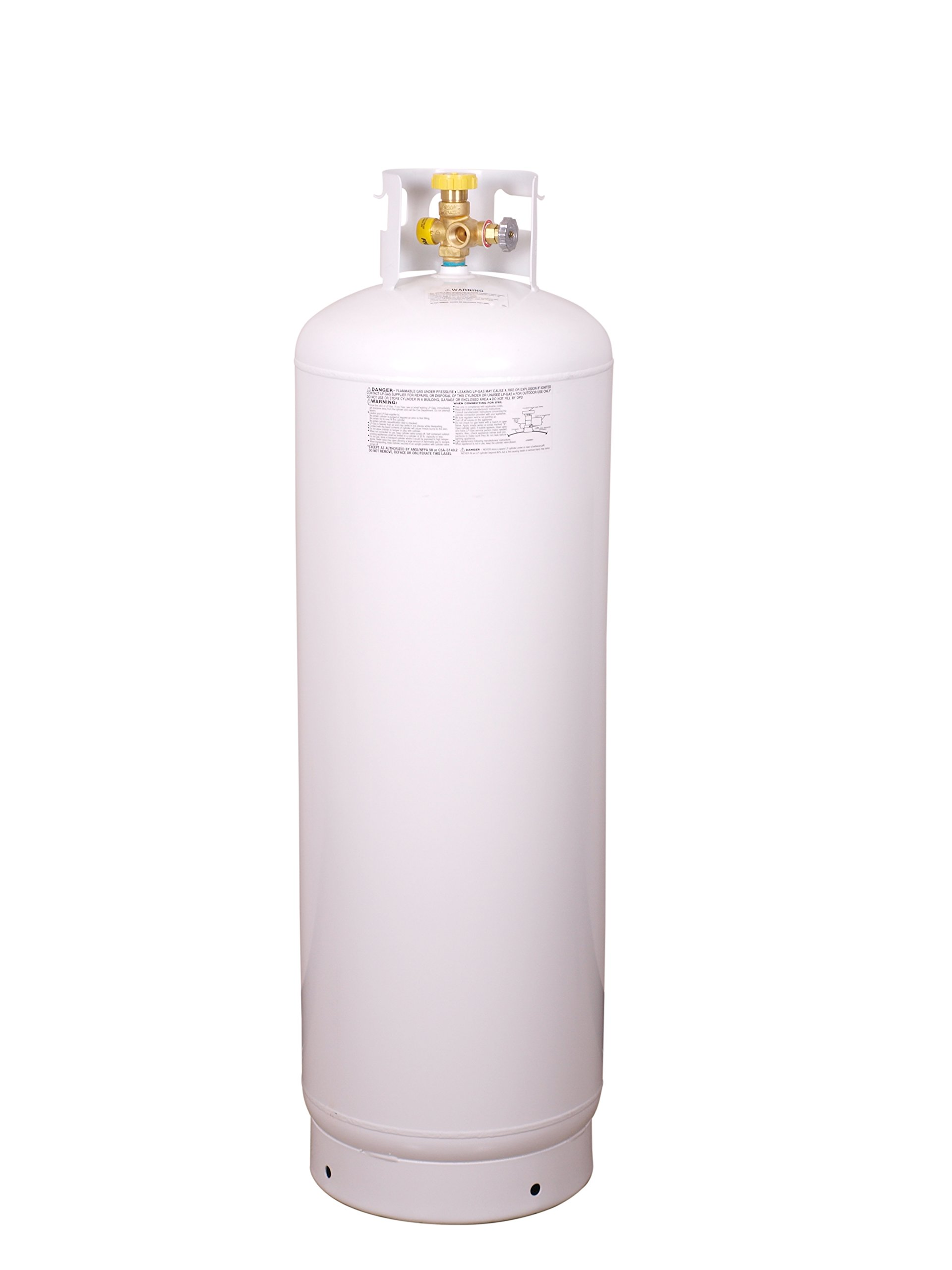 Worthington 282170 Empty Steel Propane Cylinder with Multi-Valve, 100-Pound