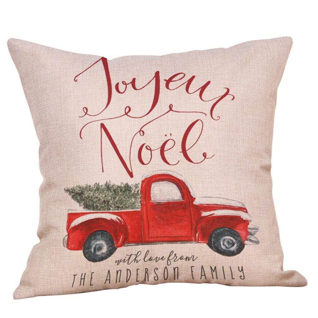 DaySiswong Christmas Pillow Covers Buffalo Check Print Pillow Case Polyester Sofa Car Cushion Cover Home Decor