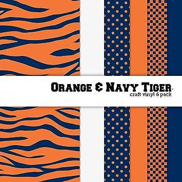 Amazoncom Orange Navy Blue Tiger Print Multipack Printed Craft - Orange print sheets