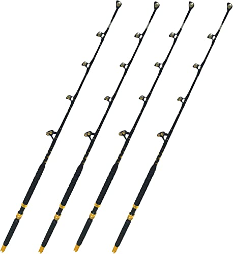 EatMyTackle Roller Guide Saltwater Fishing Rod Blue Marlin Tournament Edition