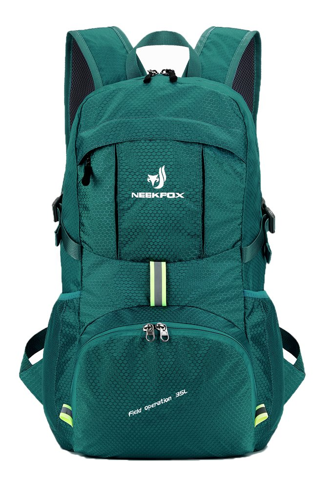 NEEKFOX Lightweight Packable Travel Hiking Backpack Daypack,35L Foldable Camping Backpack,Ultralight Outdoor Sport Backpack (06.Green)