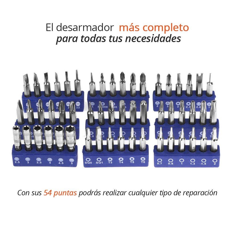 628f8fdca41 REDLEMON Kit de Desarmador de Precisión Portátil 54 en 1, para Reparación  de Smartphones, Computadoras, Joyería, Herramientas, con Puntas Magnéticas  ...