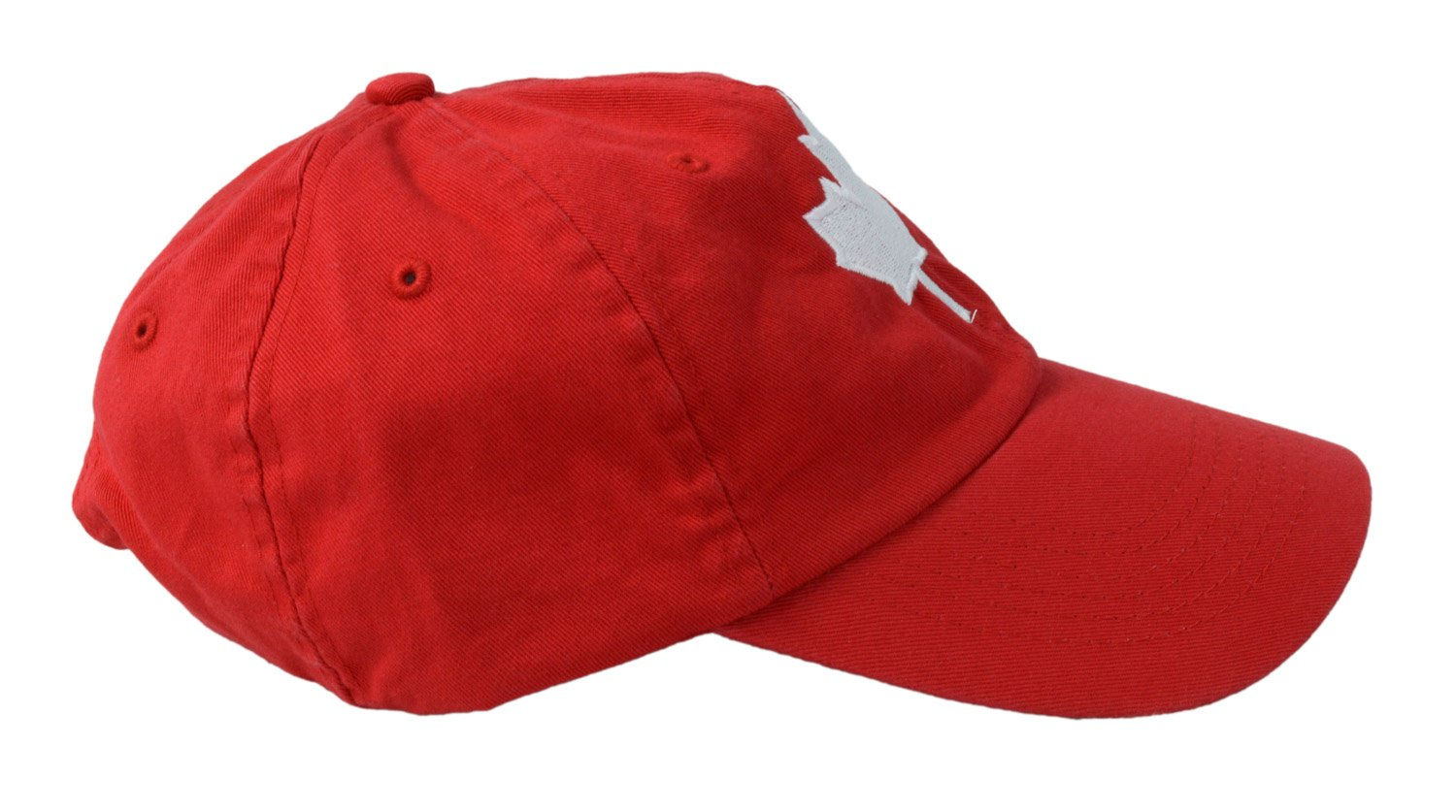 Ann Arbor T-shirt Company Canada Maple Leaf Hat Canadian Pride Embroidered Twill Red Baseball Cap