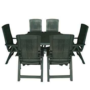 7tlg camping - Juego de muebles de jardín 22130.003 165 x 110 cm ...