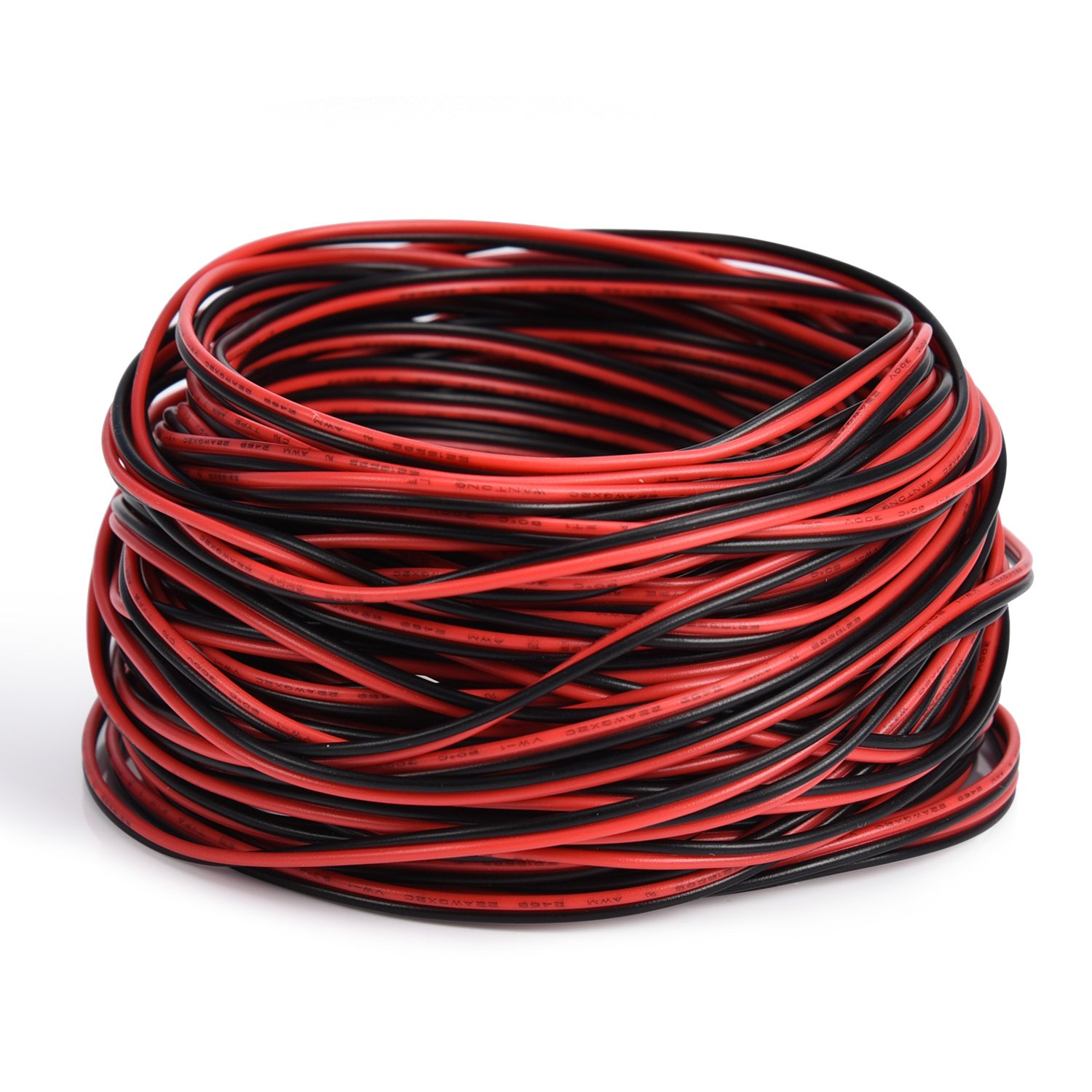 65.6ft Extension Cable Wire Cord JACKYLED 20M 22awg Cable for Led Strips Single Color 3528 5050