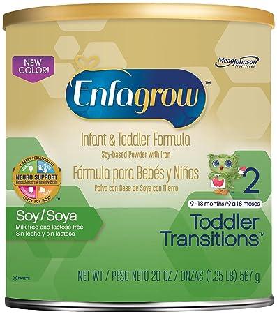 Enfagrow Soy Toddler Formula-Powder-20 Ounces-4 Pack