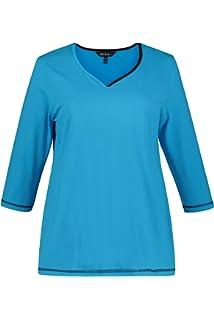 Tailles Noir 10 T Long Popken Grandes 720748 Femme Shirt 4446 Ulla 2WED9IH