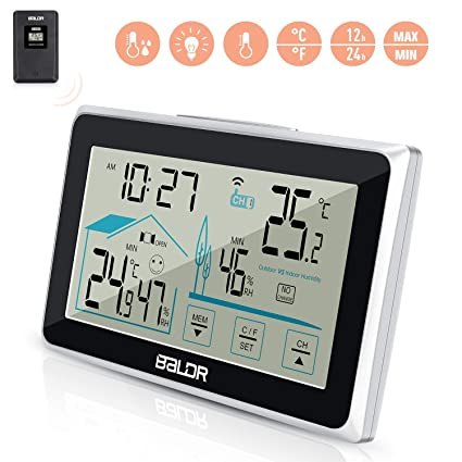 Remote Precision Wireless LCD  Digital Indoor and Outdoor Thermometer White UK