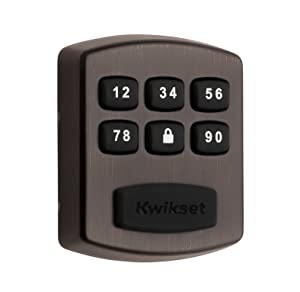 Kwikset 99050-004 Model 905 Value Lock Keyless Entry Electronic Keypad Deadbolt for Garage or Side Door, Venetian Bronze