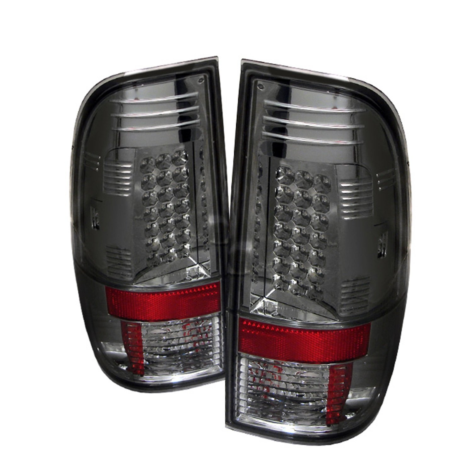 Amazon com spyder ford f250 350 450 550 super duty 08 12 led tail lights black automotive