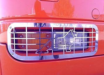 2 x exclusivo acero inoxidable Luz Antiniebla Delantera Protectores decoraciones para Man TGA TGX camiones: Amazon.es: Coche y moto