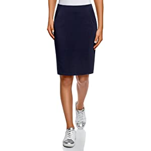 00c4c5a38 oodji Collection Women's Jersey Pencil Skirt, 0, Black (2900n) at ...