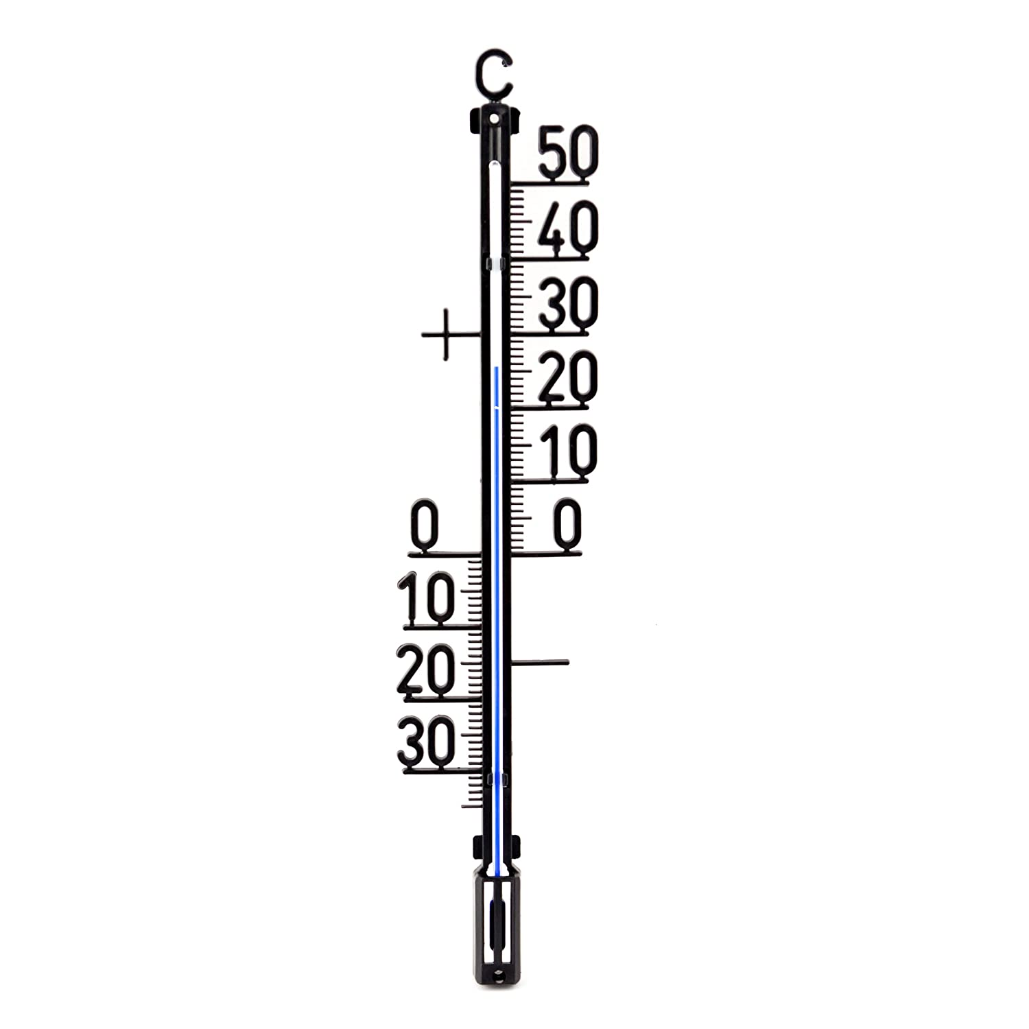 35 cm Outdoor/Garden – Analog Plastic Thermometer Outdoor Temperature Range -30 to + 50 °C Lantelme