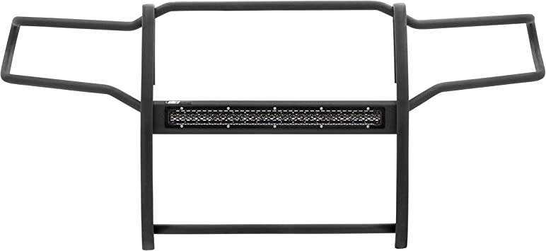 ARIES 2170004 Pro Series Black Steel Grill Guard with 30-Inch LED Light Bar Select Toyota Sequoia Tundra
