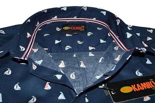 413ec526a3ab KAMRO Übergrößen ! Kurzarm Hemd Schiffchen-Muster 9XL  Amazon.de  Bekleidung