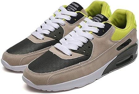 DYM Zapatos Masculinos Zapatillas de Deporte de Las Zapatillas de Deporte Estudiantes Tendencia Transpirable Viajes Amortiguador de Aire Casual Running Hombre de Gran tamaño de los Zapatos, B, 42: Amazon.es: Hogar