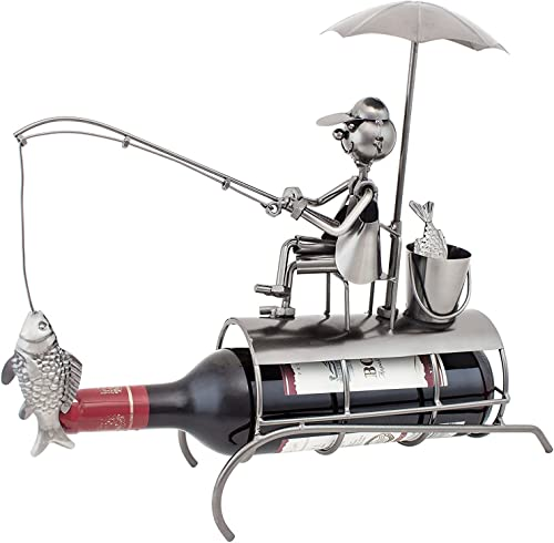BRUBAKER Wine Bottle Holder Angler