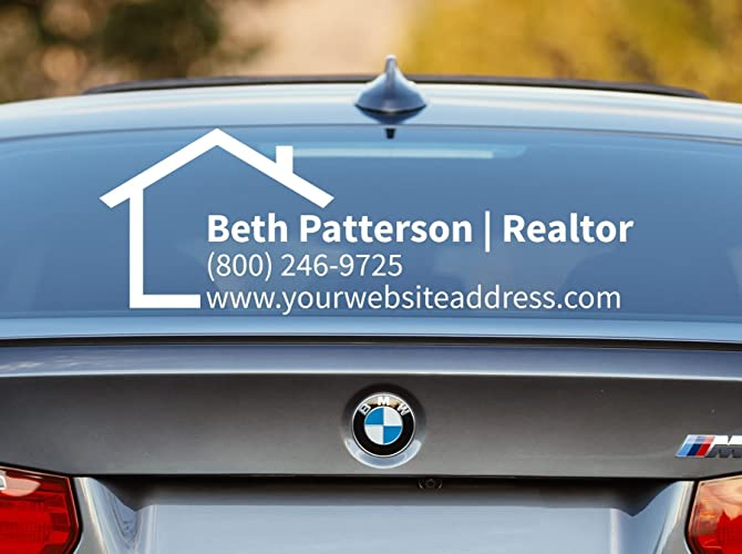 Amazoncom Realtor Decal Realtor Car Decal Real Estate Decal - Promotional car window decals