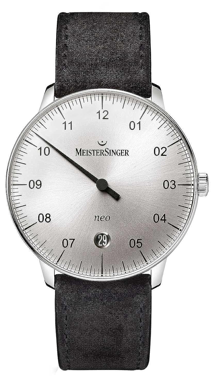MeisterSinger Herrenuhr Einzeigeruhr mit Zusatzfunktion Automatik Neo NE901N