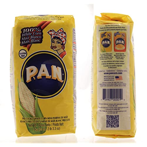 P.A.N. 100% Pre-Cooked White Corn Meal