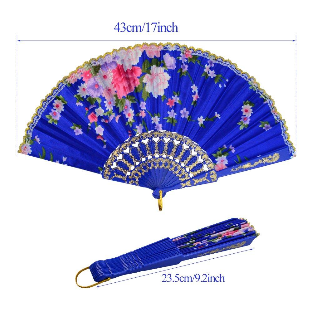 Amazon.com: Miayon - 10 abanicos de mano plegables florales ...