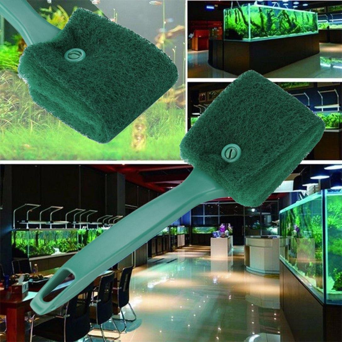 LtrottedJ Practical Aquarium Plant Algae Cleaner ,Glass Fish Tank Clean Cleaning Brush