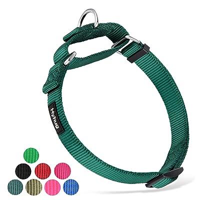 Hyhug Pets Premium Upgraded Heavy Duty Nylon Anti-Escape Martingale Collar