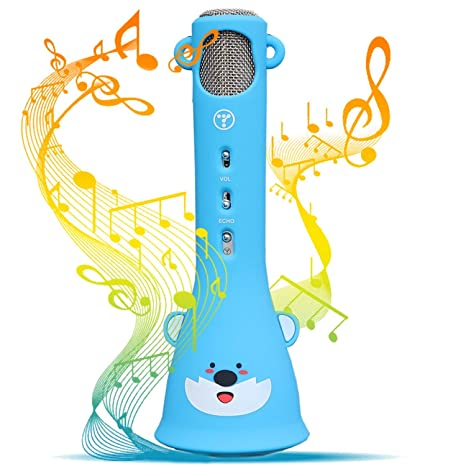TOSING Wireless Karaoke Microphone For Kids 2019 Top Birthday Gifts Girls Boys Best Present Toys 4 5 6 7 8 9 Years Old 10 11 12 Yrs
