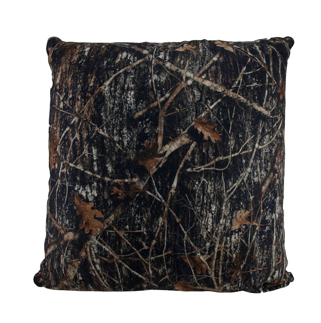 Zeckos Polyester Throw Pillows Brown Mc2 True Timber Camo Sherpa Microfiber 18 in. Throw Pillow 18 X 18 X 7 Inches Brown