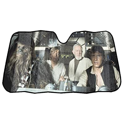 "Infinity Stock Star Wars Front Auto Windshield Sun Shade Universal Size Fit 58"" x 27"" - Windshield Car Truck SUV & Van Sunshade - Interior Accessories (Star Wars Millennium Falcon): Automotive"