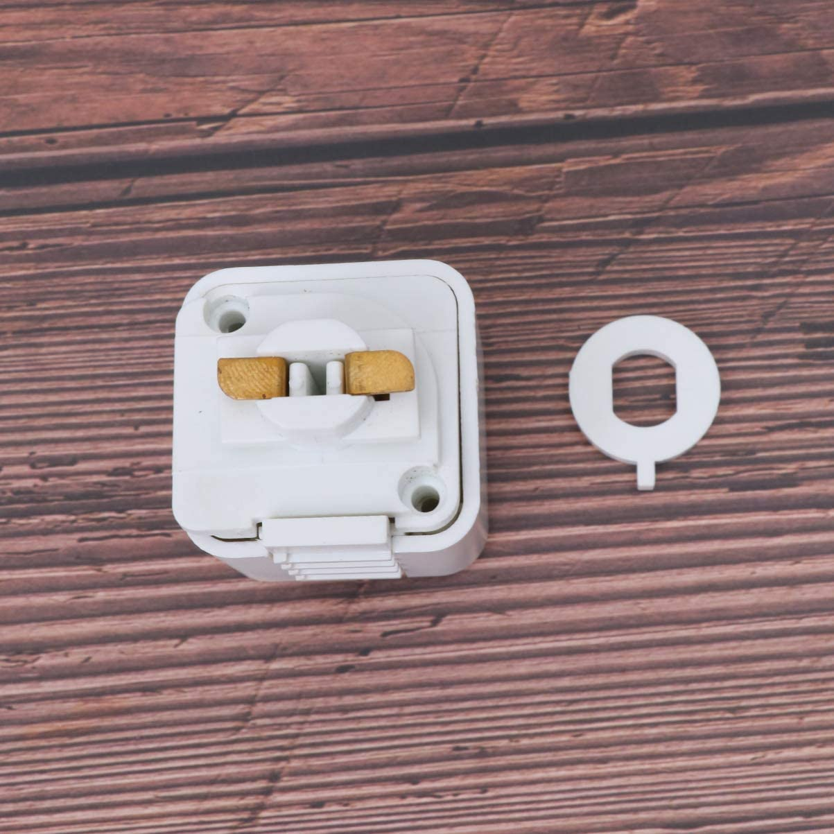 Mobestech Track Light Fixture 2 Wire Track Lamp Connector Adapter Rail Head Replacement for Living Room Home