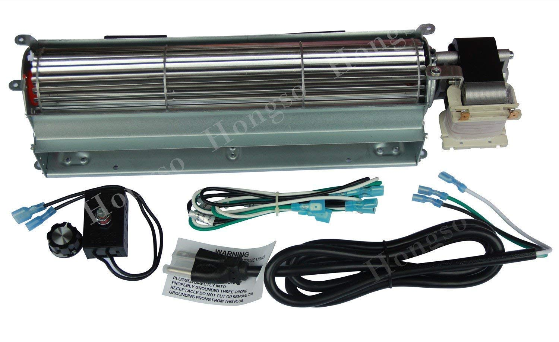 Vanguard FMI Comfort Flame Glow GA3650-KIT3 Hongso 17Y-New BK GA3650 GA3650B GA3700 GA3700A GA3750 GA3750A Replacement Fireplace Blower Fan KIT for Desa Vexar