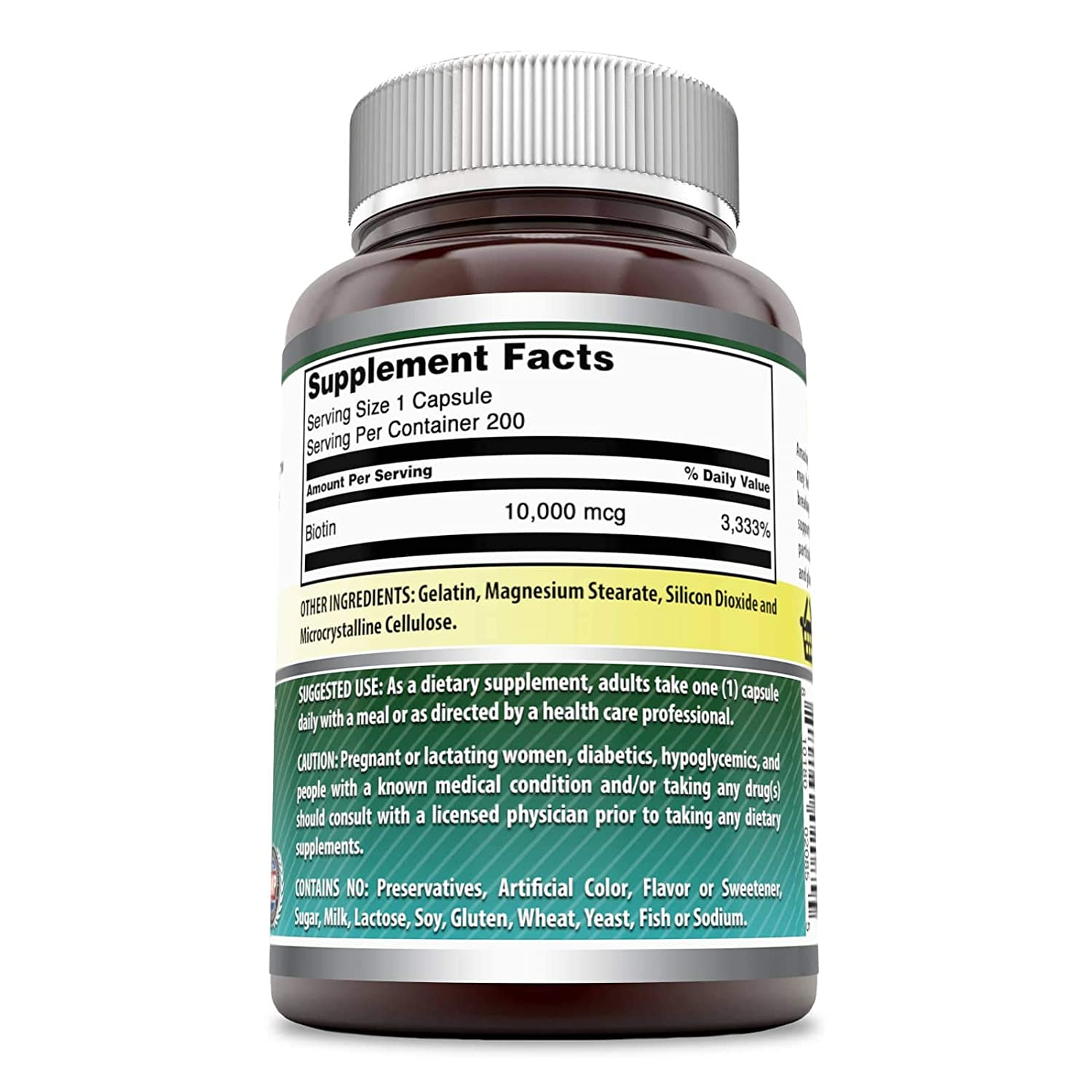 Amazon.com: Amazing Formulas Biotin Supplement - 10,000mcg - 200 Capsules -  Supports Healthy Hair, Skin & Nails - Promotes Cell Rejuvenation: Health ...