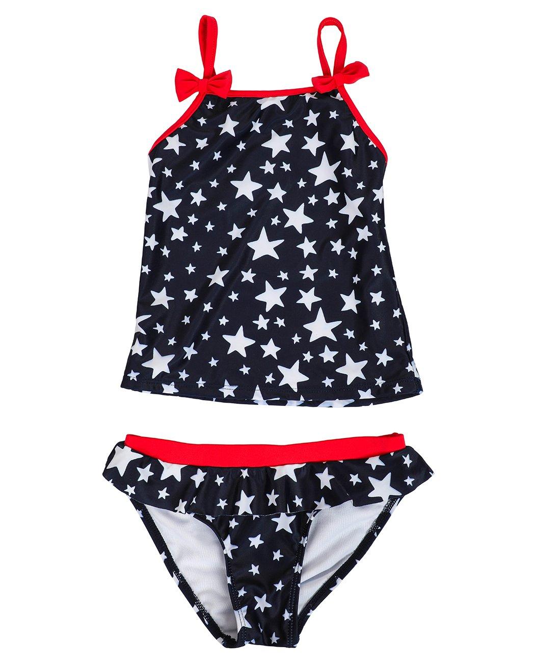 iDrawl Girls Tankini Beach Sport Swimsuit Two Piece Stars Swimwear by iDrawl (Image #3)