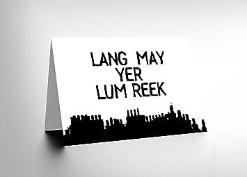 Amazon new quote scots saying lang lum reek hogmanay scotland new quote scots saying lang lum reek hogmanay scotland greetings card cl112 m4hsunfo